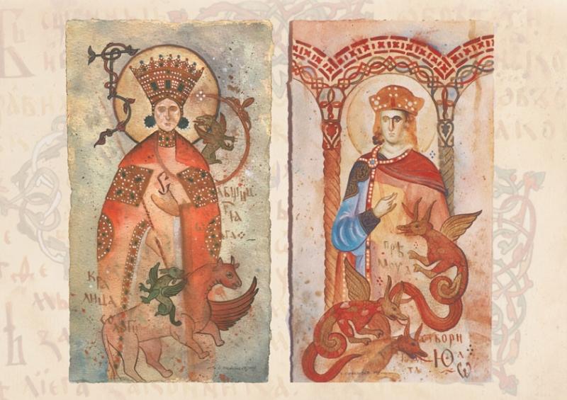 """Симонида"" и ""Свети Соломон"", слике из циклуса ""ФРАГМЕНТИ"""